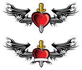 Coeur et poignard — Vecteur