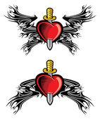 Heart and dagger — Stock Vector