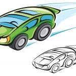 Постер, плакат: Hybrid car