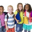 Stock Photo: Elementary School Kids Group
