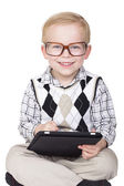 Little Boy Technology Geek — Stock Photo
