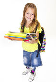 Little girl elementary student — Stock Photo