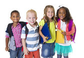 Elementary School Kids Group — Stock Photo