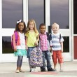 Portrait of Young Kids first day of School — Stock Photo #40430989