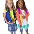 Cute diverse school students — Foto Stock