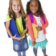 Cute diverse school students — Stock Photo