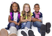 Diverse group of school kids — Stock Photo