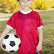 Stock Photo: Young Hispanic Soccer Player Portrait