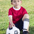 Stock Photo: Portrait of a Young Hispanic Soccer Player