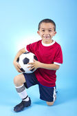 Young Hispanic Soccer Player Portrait — Stock Photo