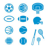 Sports equipment and balls — Stock Photo