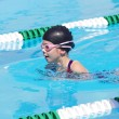 Young Swimmer at Swim Meet — Foto de stock #40476529