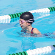 Stock Photo: Young Swimmer at Swim Meet