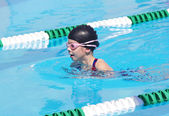 Young Swimmer at Swim Meet — Stock Photo
