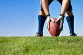 Getting ready for football kickoff — Stock Photo