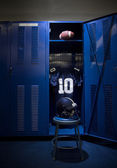 Football locker room — Stock Photo