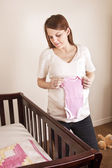 Expecting Mother Anxiously Awaiting her baby — Stock Photo