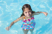 Cute little Girl in a swimming pool — Stock Photo