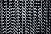 Dark Steel grid background — Stock Photo