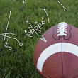 Stock Photo: Football playbook