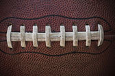 American Football Laces Close up Macro photo — Stock Photo