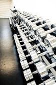 Equipamento de treinamento de peso — Fotografia Stock