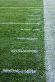 Football sideline — Stock Photo