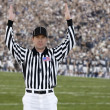 Football Referee signaling touchdown — Stock Photo #40860119