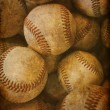 Aged Vintage baseball background — Stock Photo #40860293