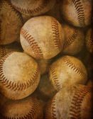 Aged Vintage baseball background — Stock Photo