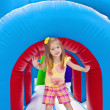 Child on Inflatable Playground — Stock Photo #41217283
