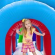 Stock Photo: Child on Inflatable Playground