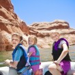 Stock Photo: Children boating at Lake Powell