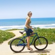 Woman on a Bicycle Ride — Stock Photo