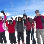 Family on Ski Vacation — Stock Photo
