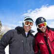 Stock Photo: Ski Buddies