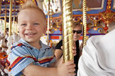 Child on the Merry-Go-Round — Stock Photo