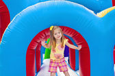 Child on Inflatable Playground — Stock Photo