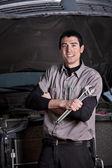 Portret van een monteur — Stockfoto