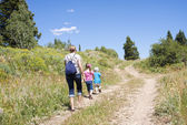 Family on a Nature hike — Stock Photo