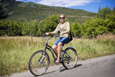 Woman on a Bike Ride — Stock Photo