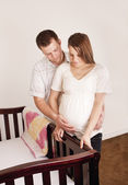 Pregnant Mother and her husband — Stock Photo