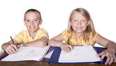 Elementary Children studying — Stock Photo