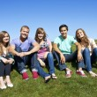 Smiling Multi-racial Young Adults — Stock Photo #41220393
