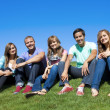 Smiling Multi-racial Young Adults — Stock Photo