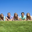 Multi-racial group of Young Adults — Stock Photo