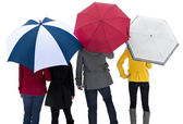People under their umbrellas — Stock Photo
