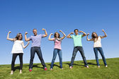 Healthy and Strong Young Adults — Stock Photo
