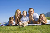 Smiling Young Family — Stock Photo