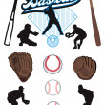 illustrerad baseball element — Stockvektor  #41241399